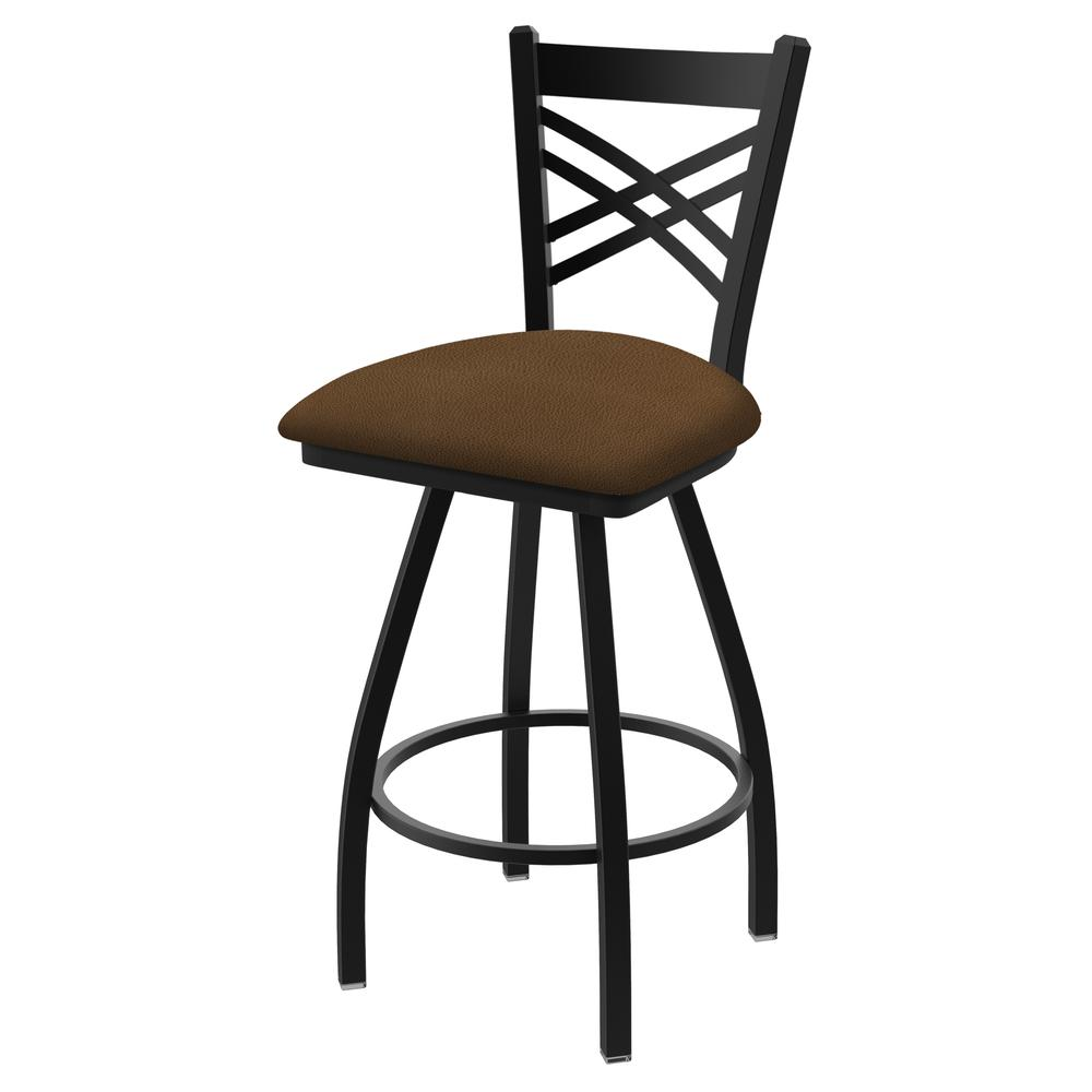 """820 Catalina 36"""" Swivel Bar Stool with Black Wrinkle Finish and Rein Thatch Seat. Picture 1"""