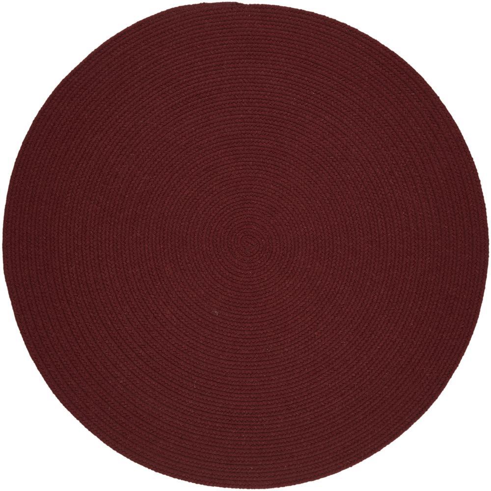 Solid Red Wine Wool 8 Round