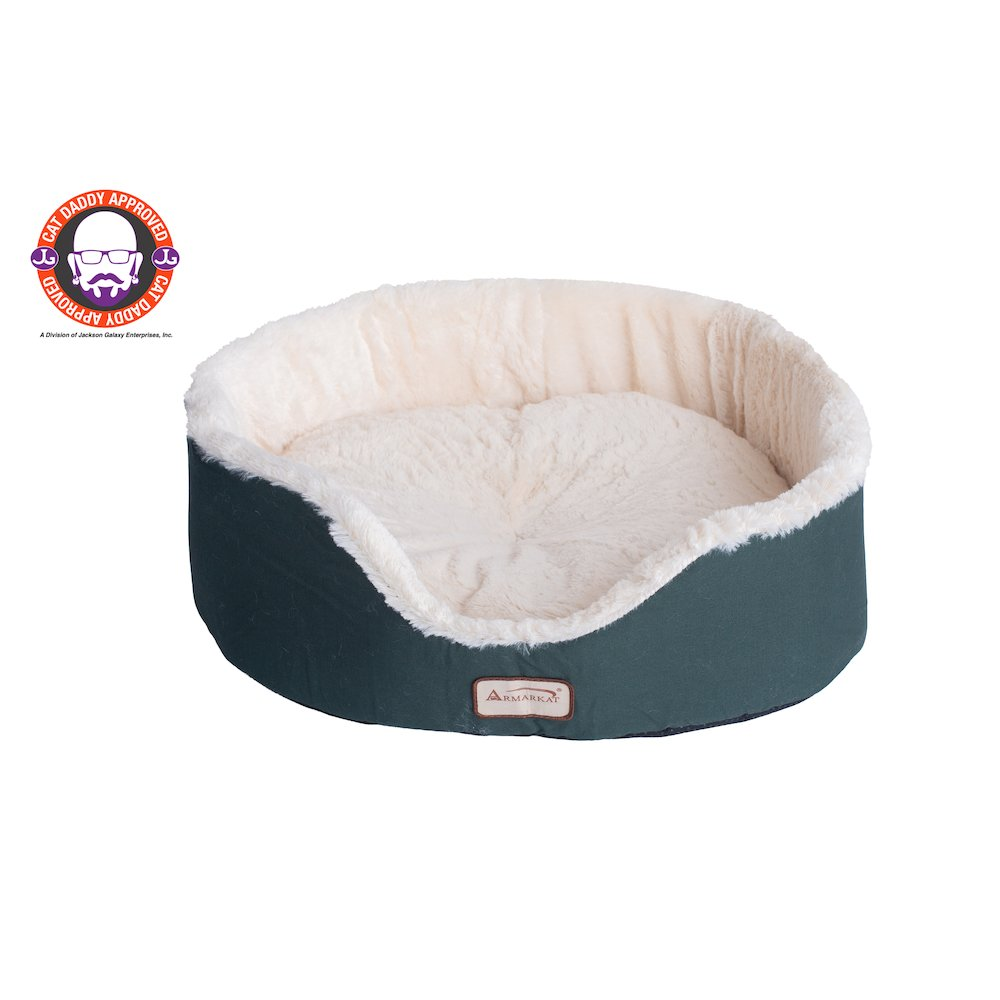 Armarkat Pet Bed Model C04HML/MB   Laurel Green and Ivory. Picture 1