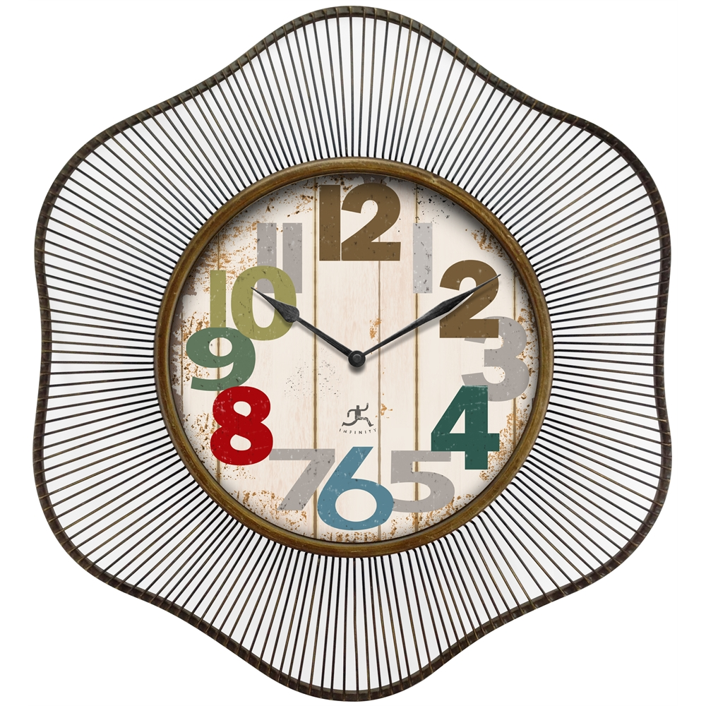 Infinity Instruments Lace 31 5 Quot Metal Wall Clock