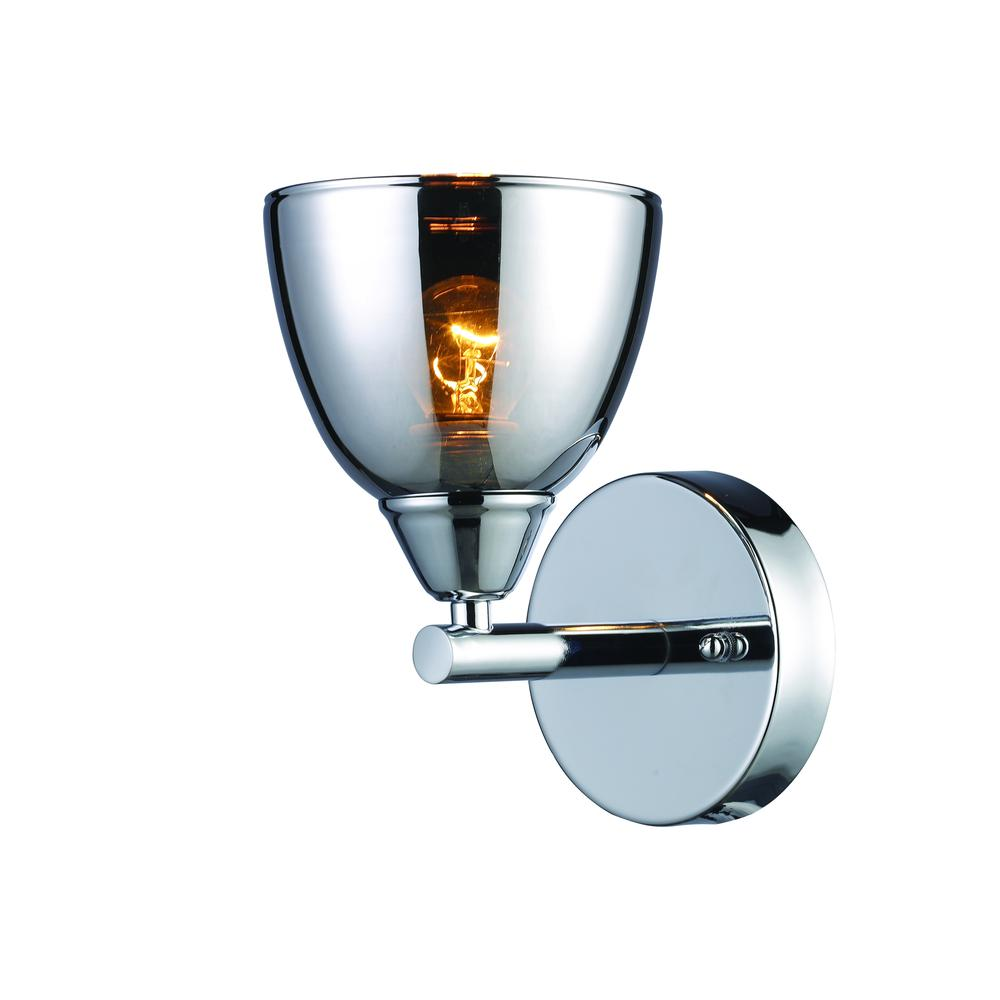 Reflections 1 Light Wall Sconce In Polished Chrome. Picture 1