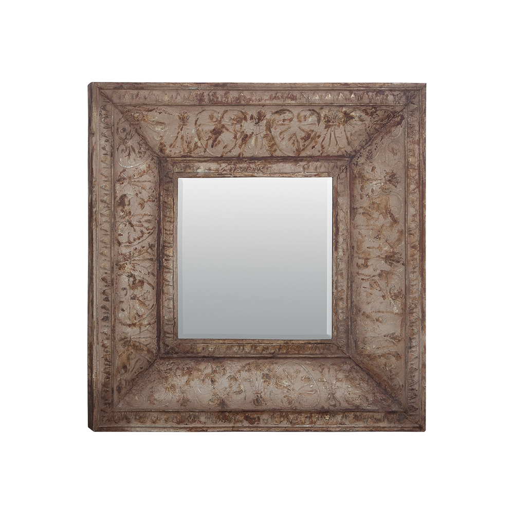 Stamped Metal Mirror. Picture 1