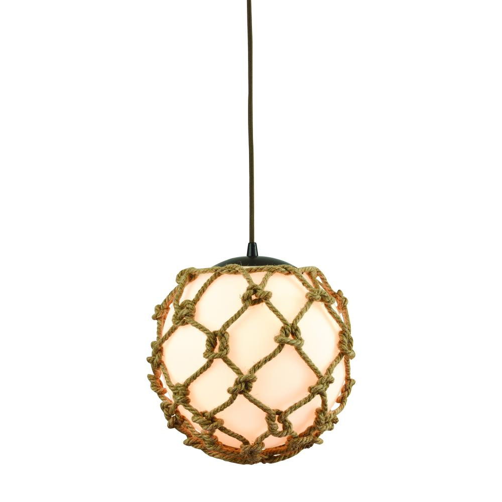 Coastal Inlet 1 Light Pendant In Oil Rubbed Bronze. Picture 1