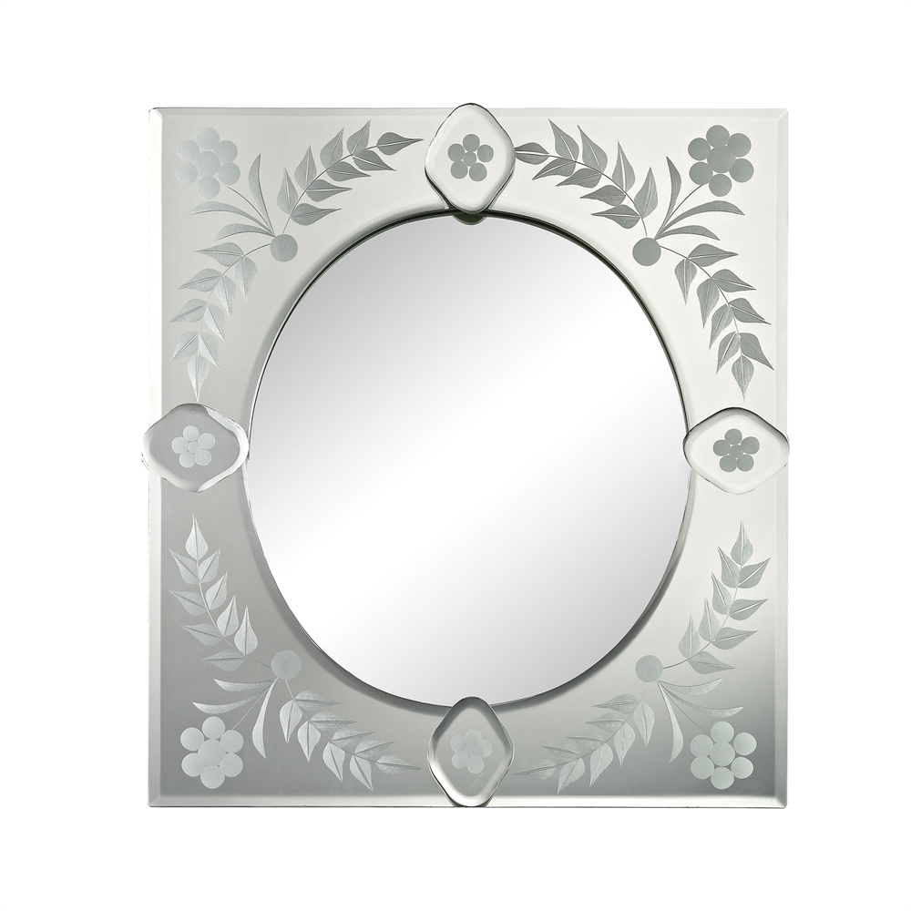 Small Sqaure Venetian Mirror. Picture 1