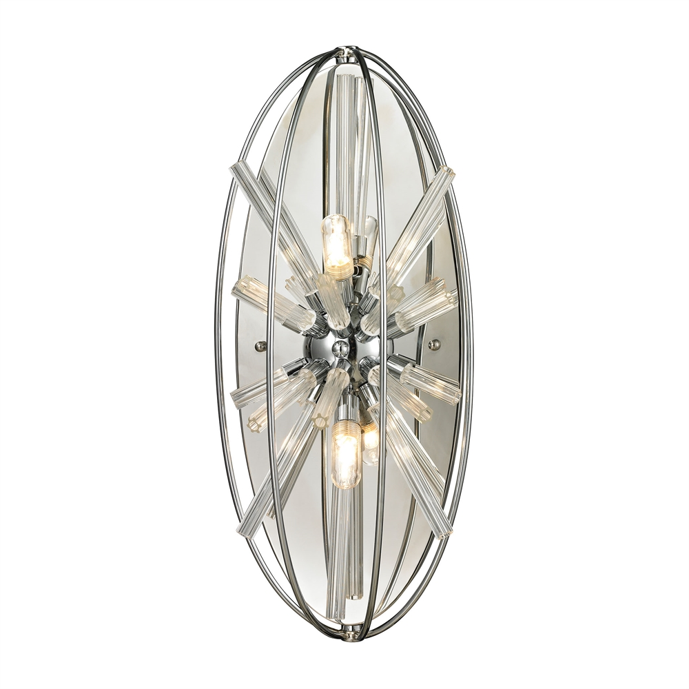 Twilight 2 Light Wall Sconce In Polished Chrome. Picture 1