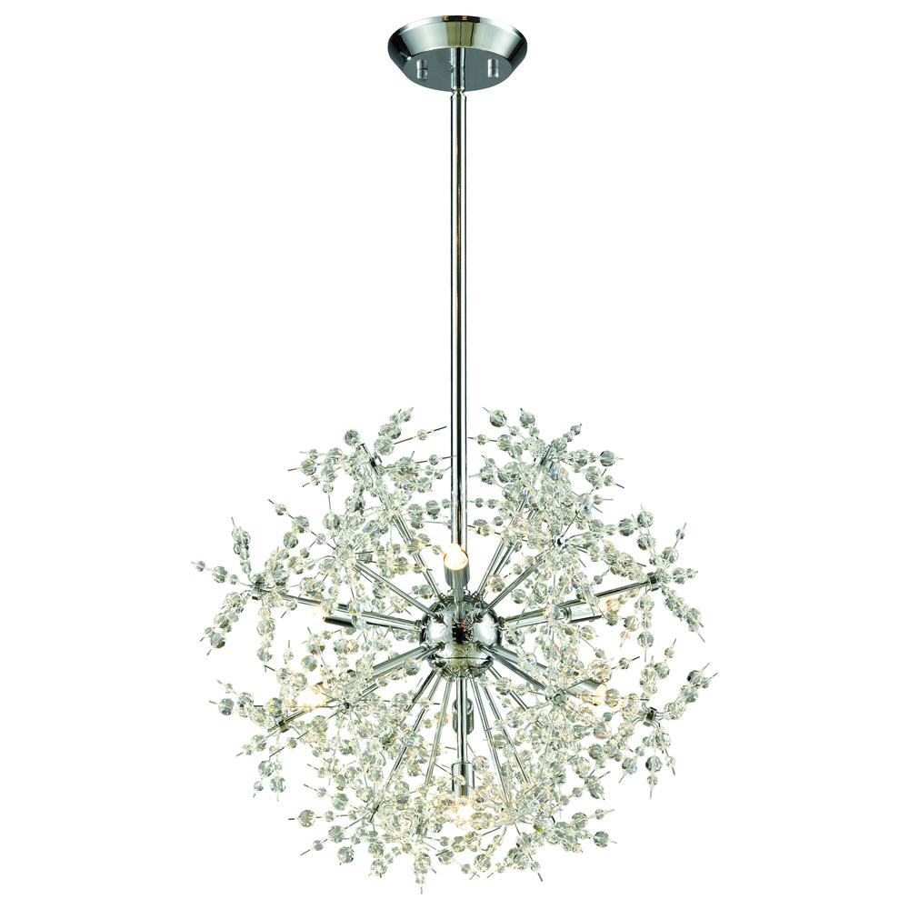Snowburst 7 Light Chandelier In Polished Chrome. Picture 1