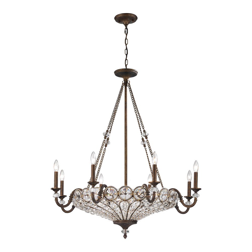 Christina 12 Light Chandelier In Mocha. Picture 1