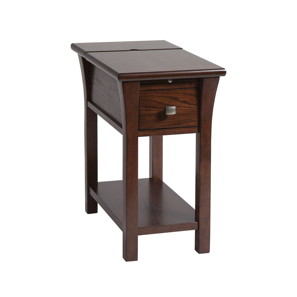 Walton 1 Drawer Chairsider In Cherry Finish