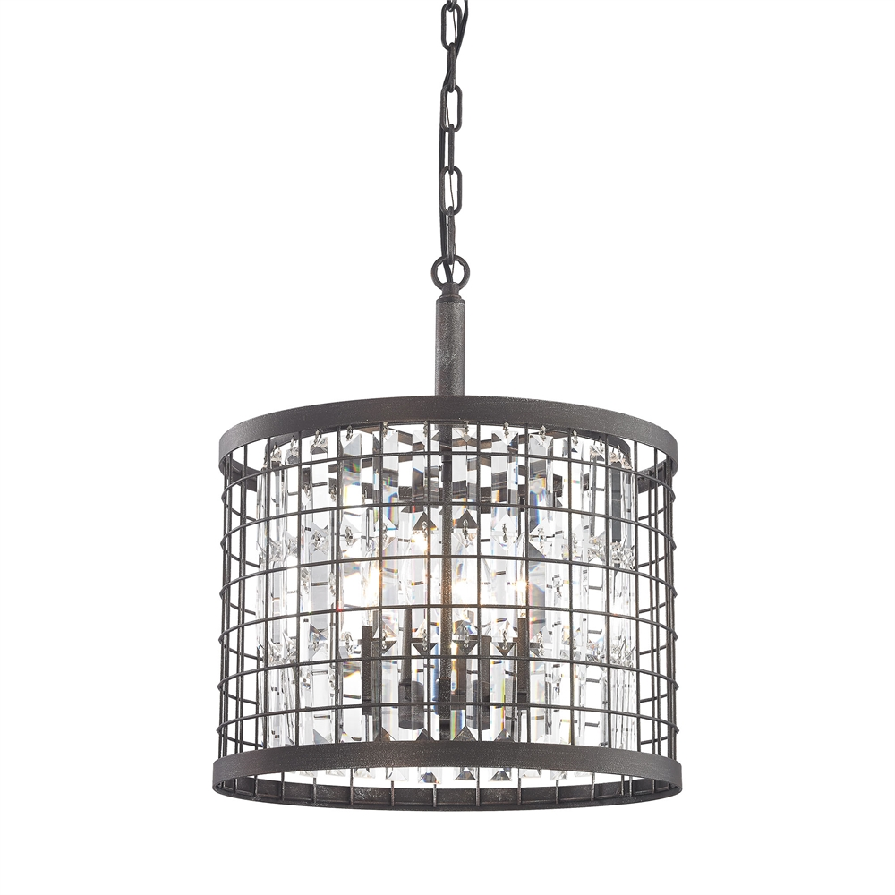 Nadina 4 Light Chandelier In Silverdust Iron. Picture 1