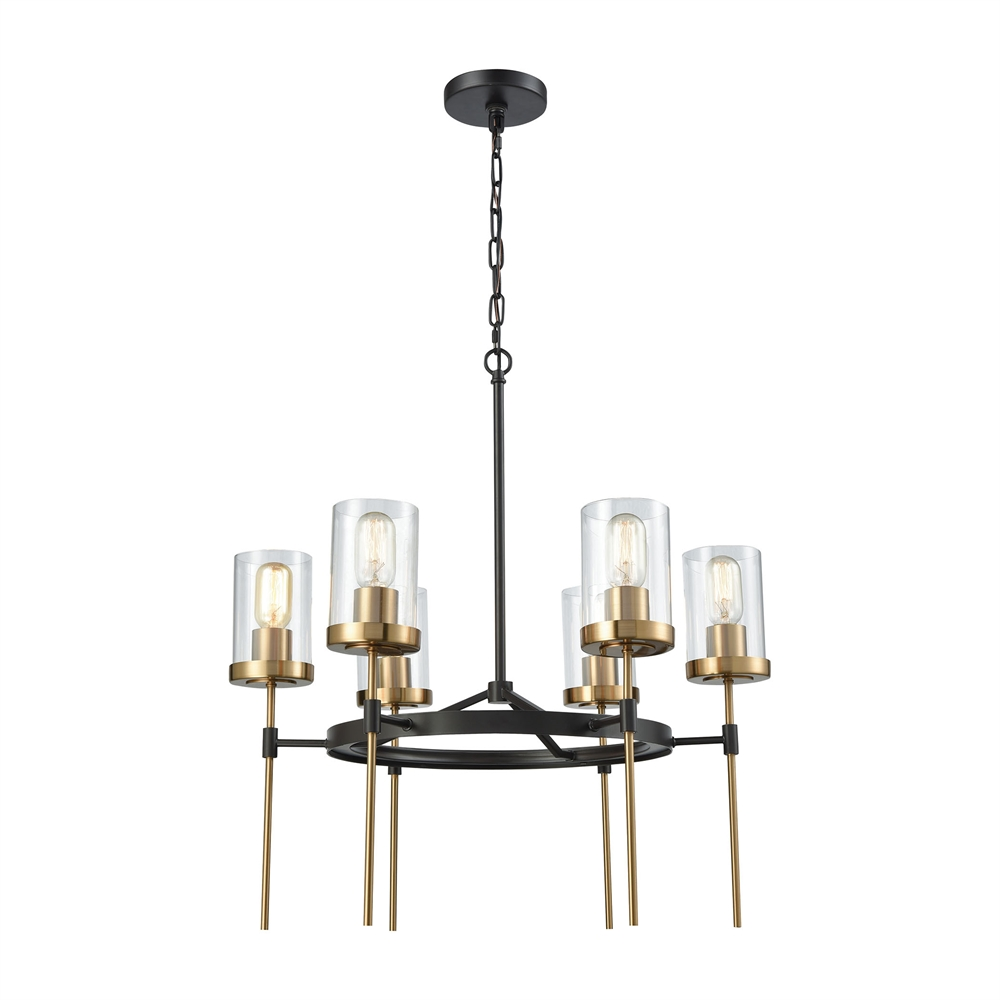 North Haven 6 Light Chandelier In Oil Rubbed Bronze With