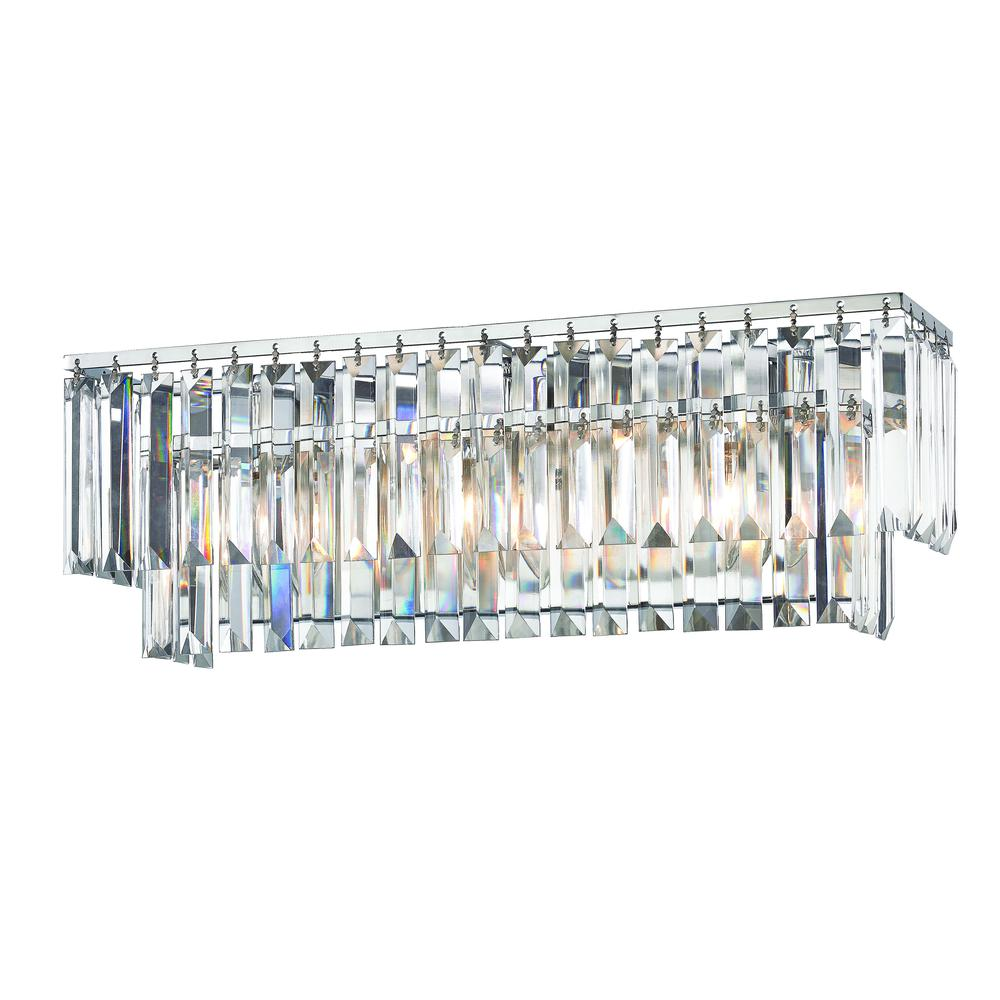 Palacial 3 Light Vanity In Polished Chrome. Picture 1