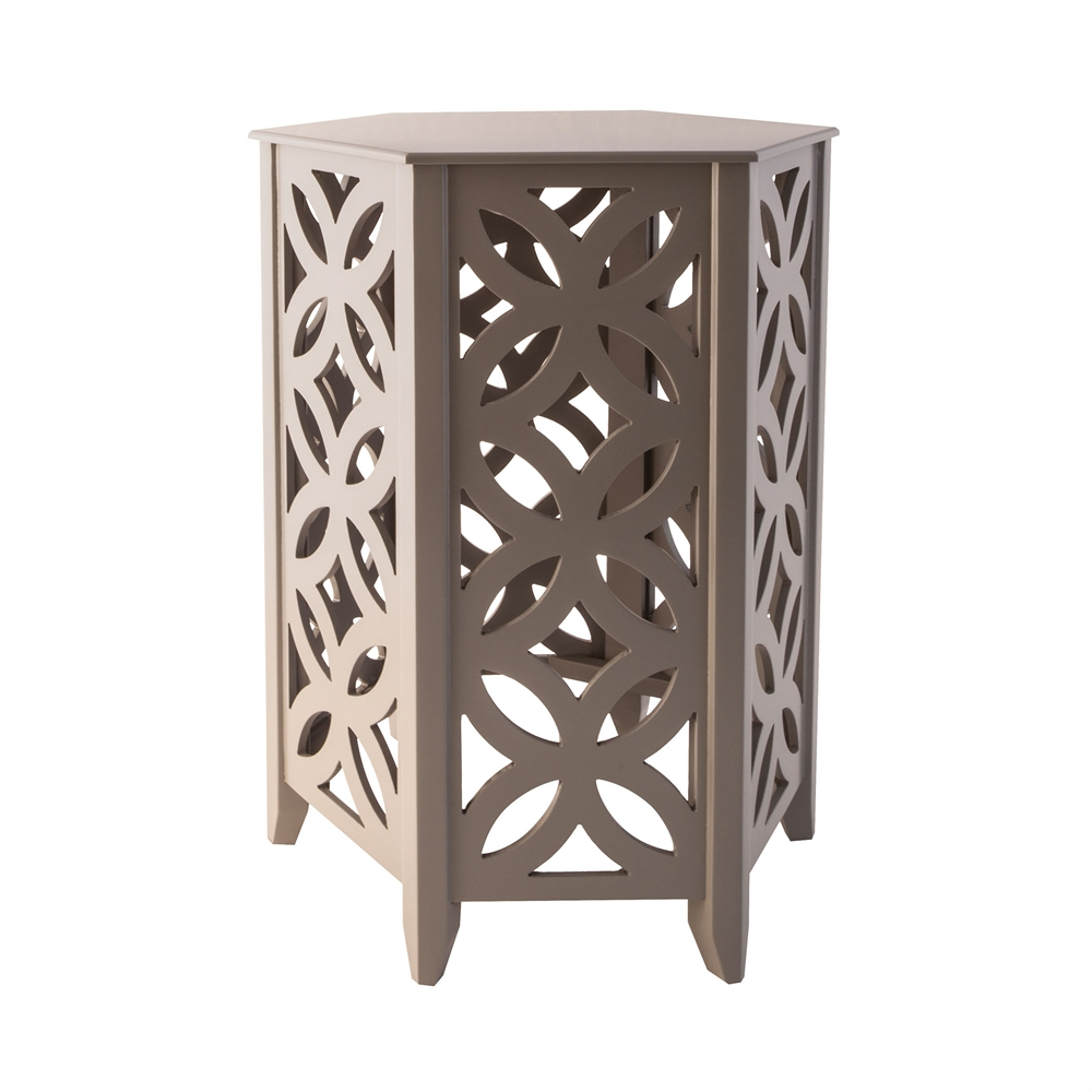 Majorca Accent Table In Cool Grey. Picture 1