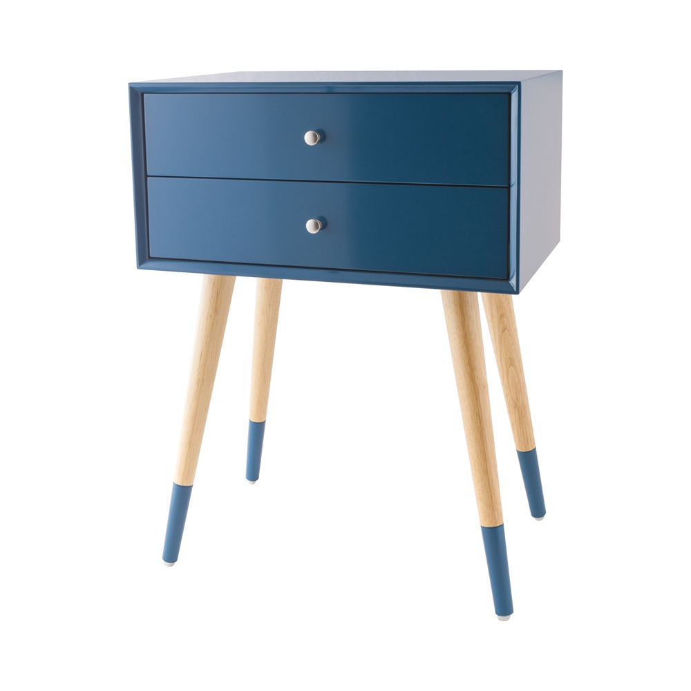 Googie Accent Table In Navy. Picture 1