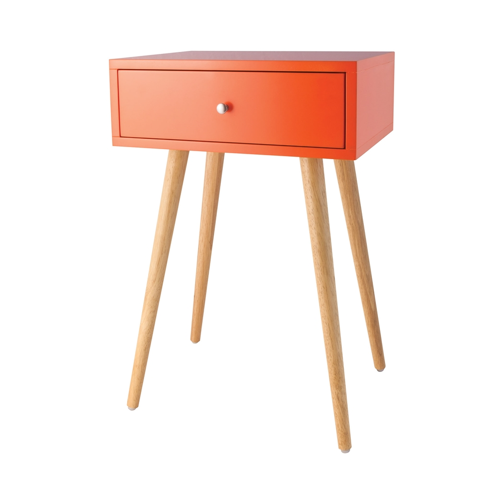 Astro Accent Table In Tangerine. Picture 1