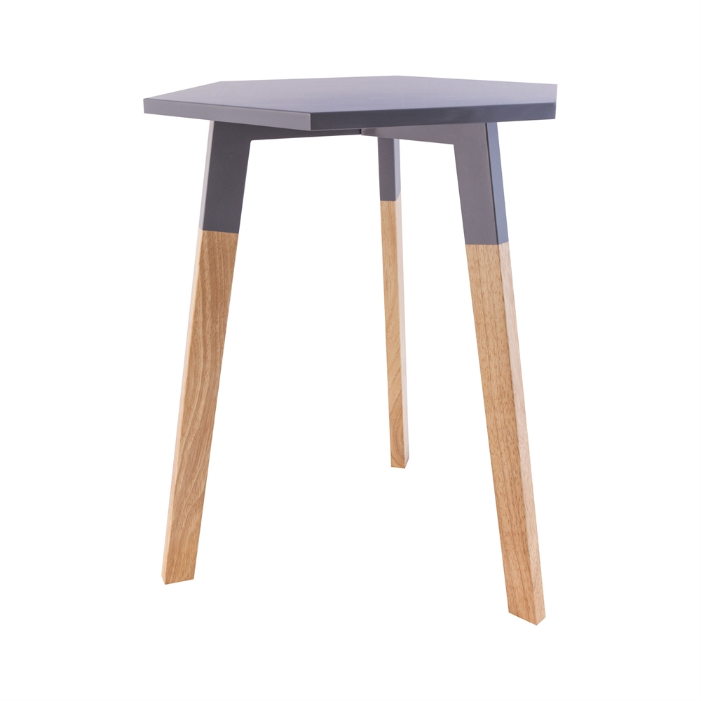 Sky Pad Accent Table In Cool Grey. Picture 1