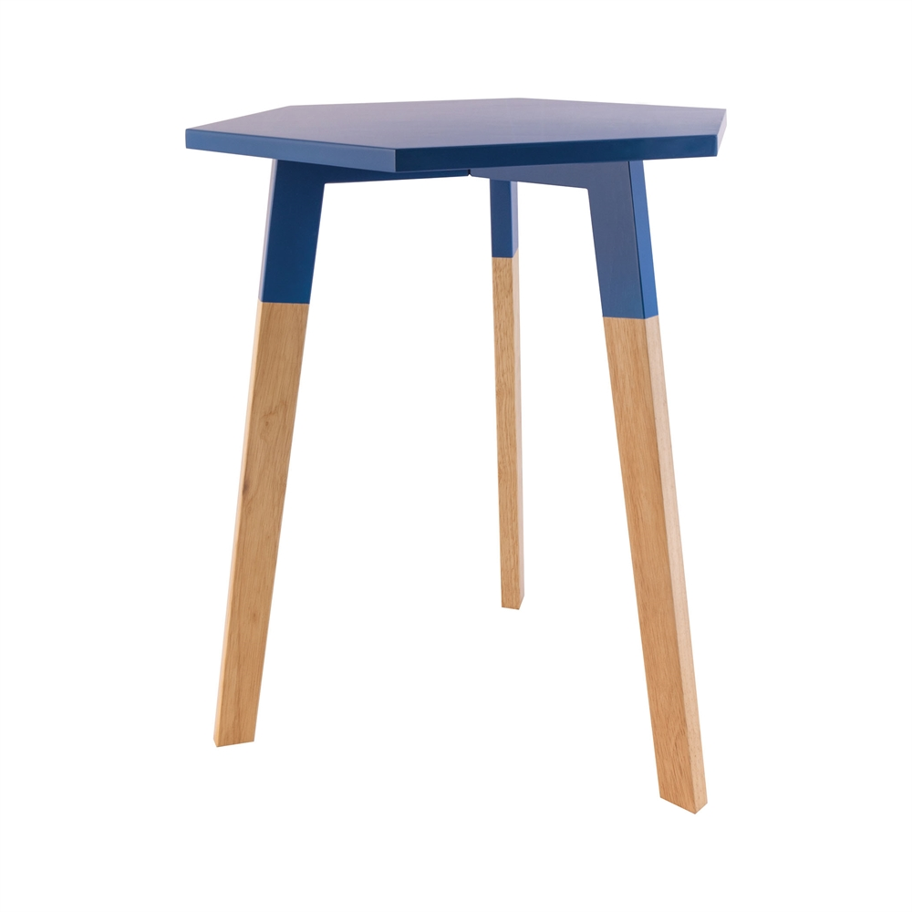 Sky Pad Accent Table In Navy. Picture 1