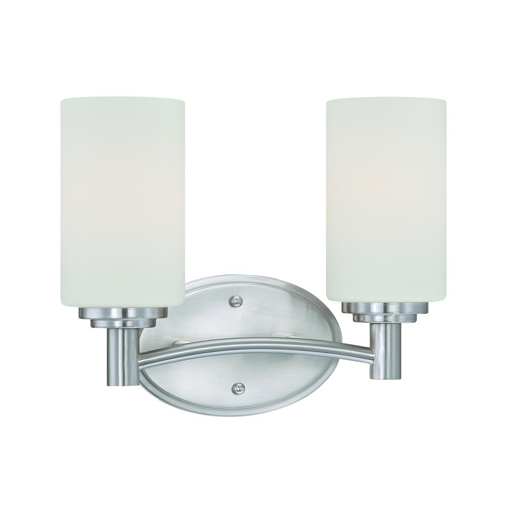 Pittman Wall Lamp Brushed Nickel 2X100W. Picture 1
