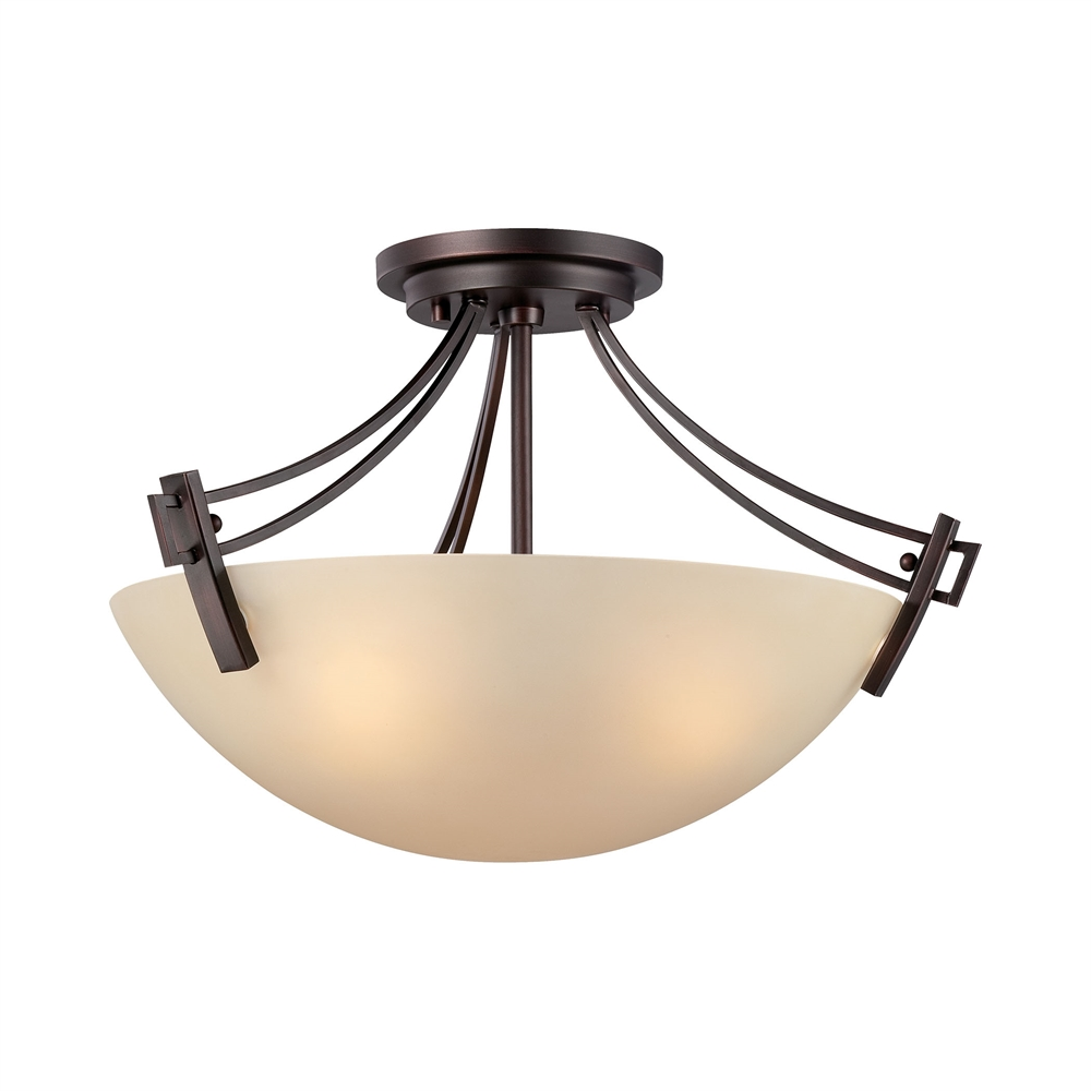 Wright Ceiling Lamp Espresso 3X60W 120V. Picture 1