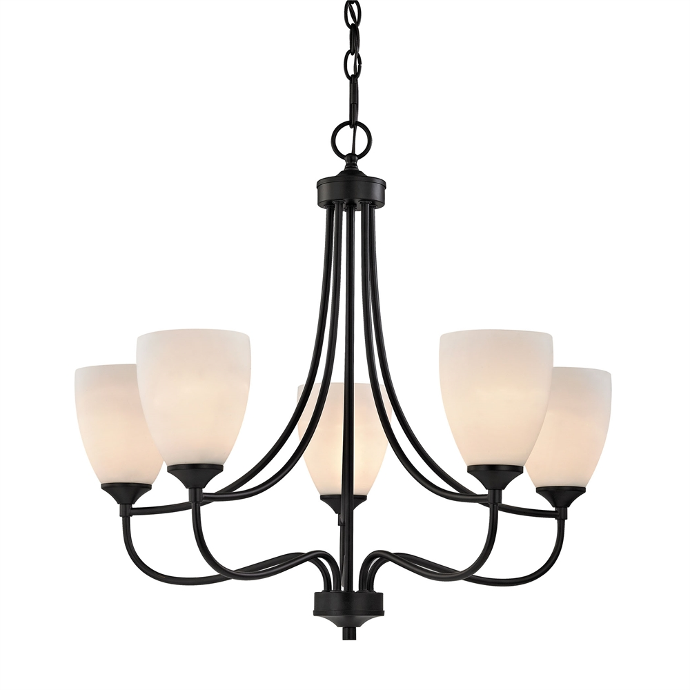 Arlington 5 Light Chandeier In Oil Rubbed Bronze. Picture 1