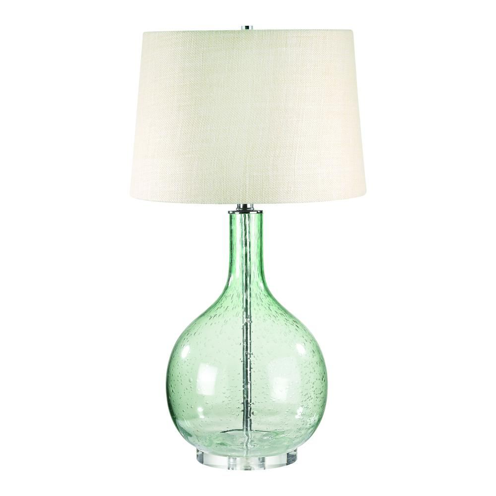 Green Seed Glass Table Lamp. Picture 1