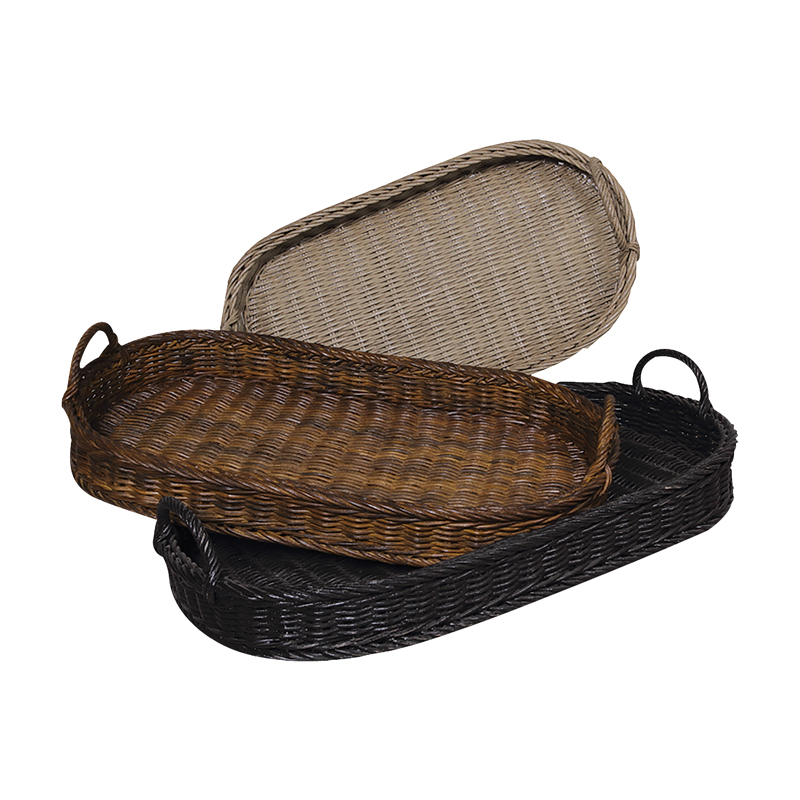 Oval Rattan Trays. Picture 1