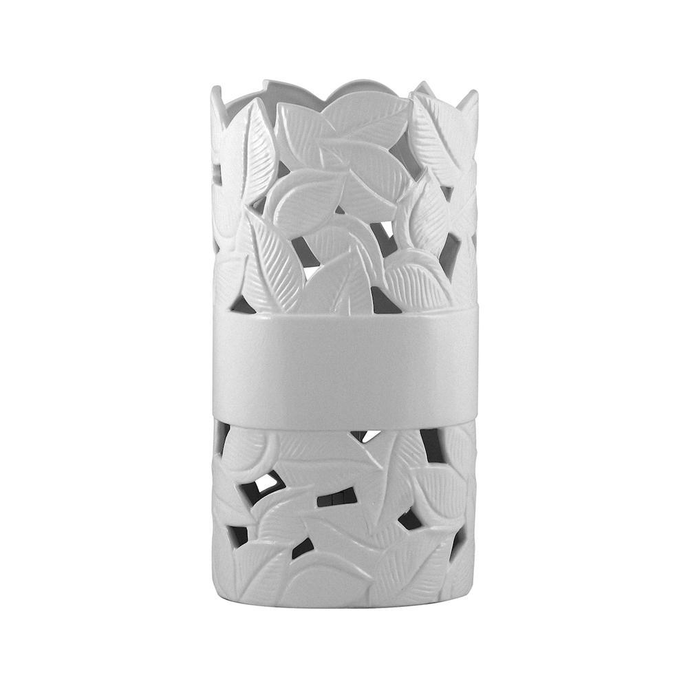 White Ceramic Up-Light. Picture 1