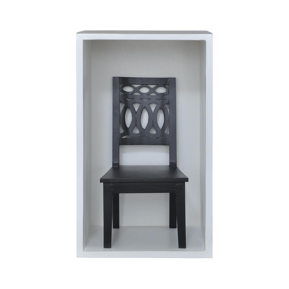 Swedish Chair Shadow Box In Grain De Bois Noir. Picture 1