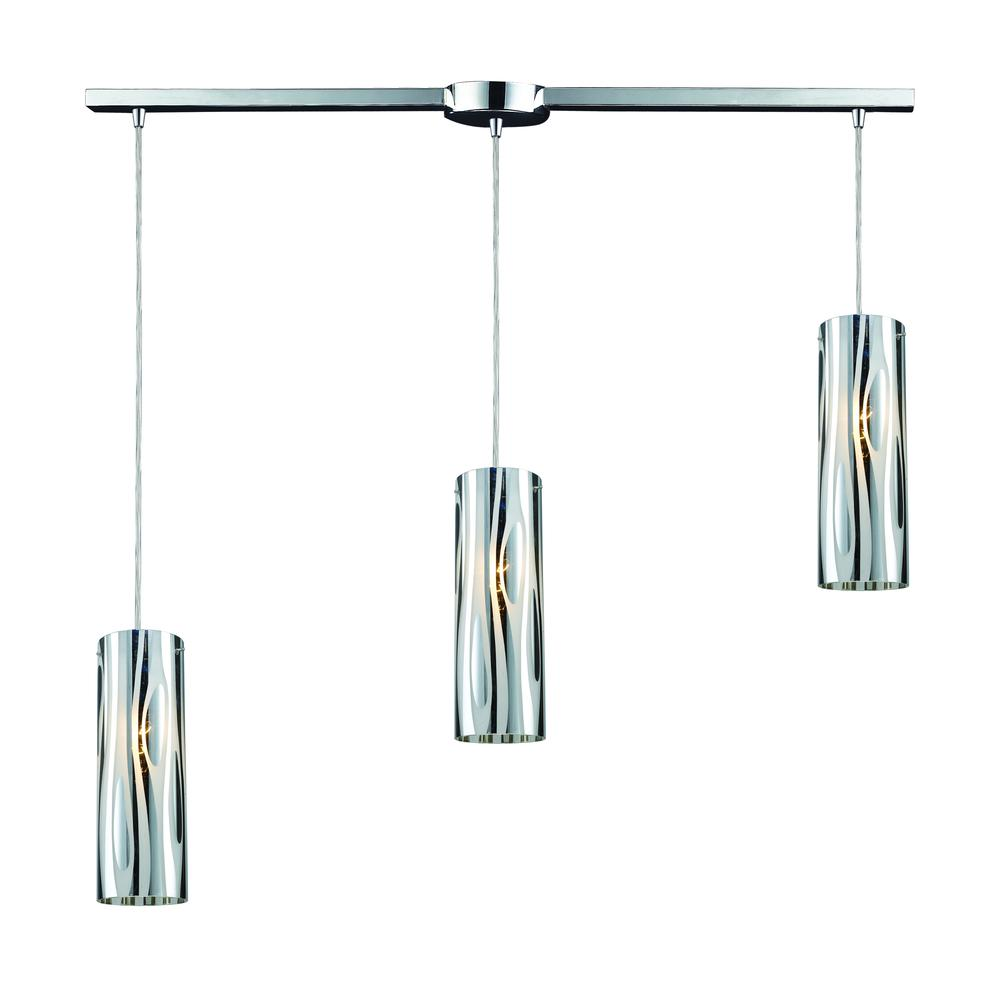 Chromia 3 Light Pendant In Polished Chrome, 31078 3L. Picture 1