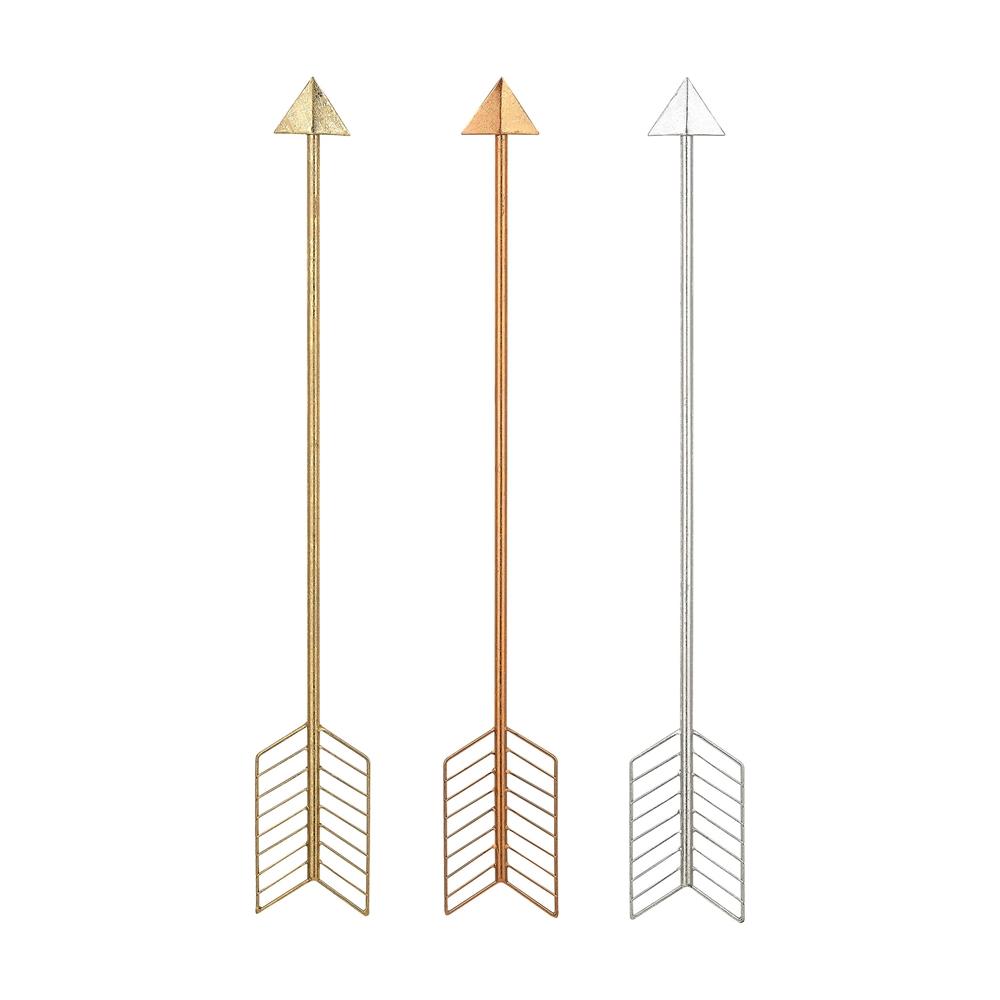 Set of 3 Metallic Arrows. Picture 1