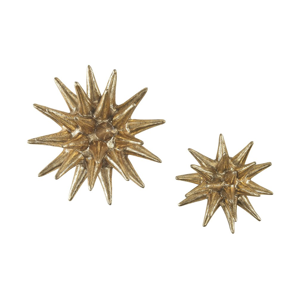 Parsec Gold 4-6 Inch Composite Wall Decor In Gold. Picture 1