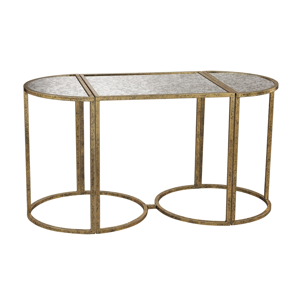 Versailles Gold Accent Table. Picture 1
