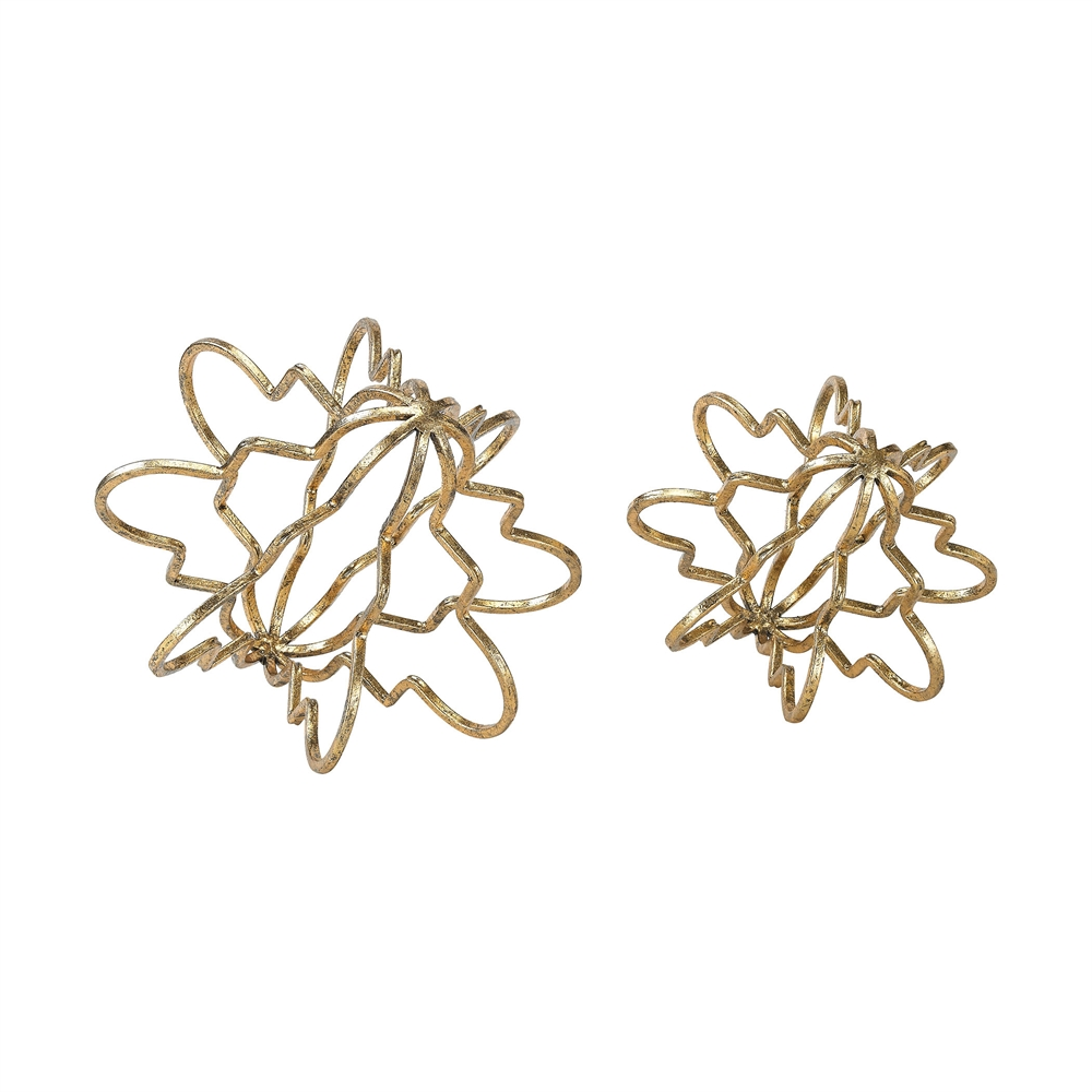 Antikythera 2 Piece Accessory Set In Gold Leaf. Picture 1