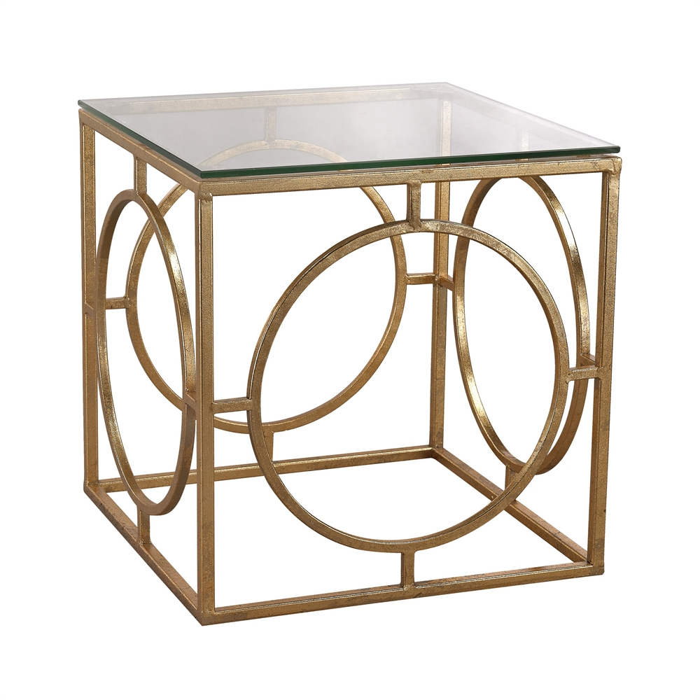 Leafed Ring and Glass Table. Picture 1