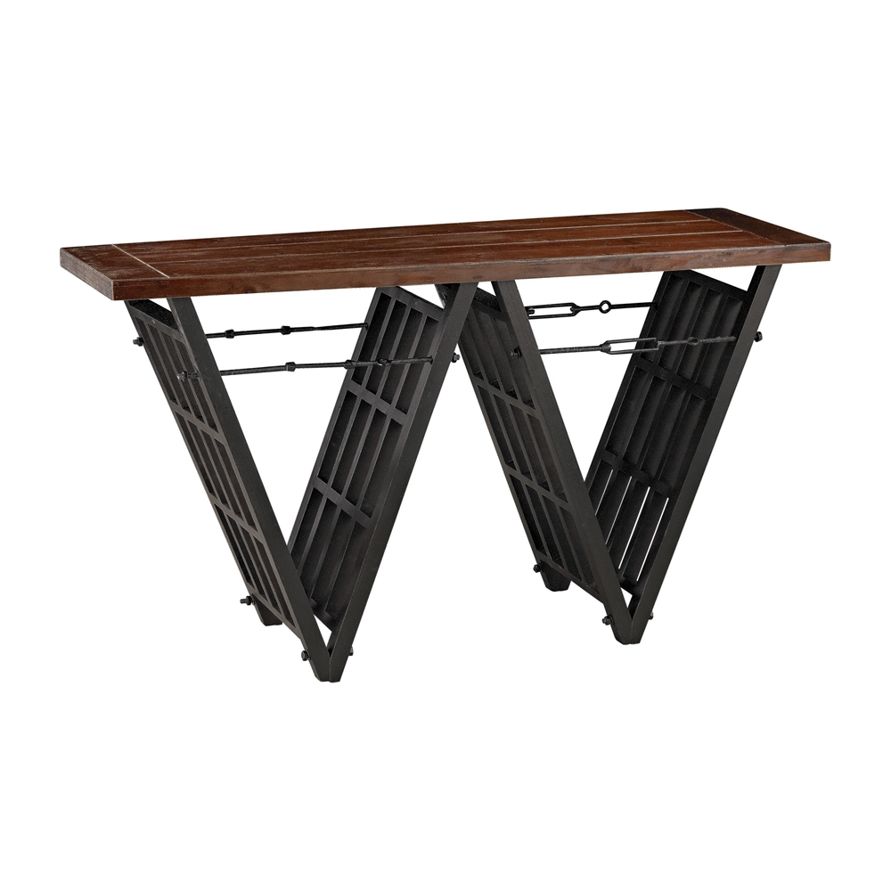 Industrial Era Console with Iron Stretcher. Picture 1