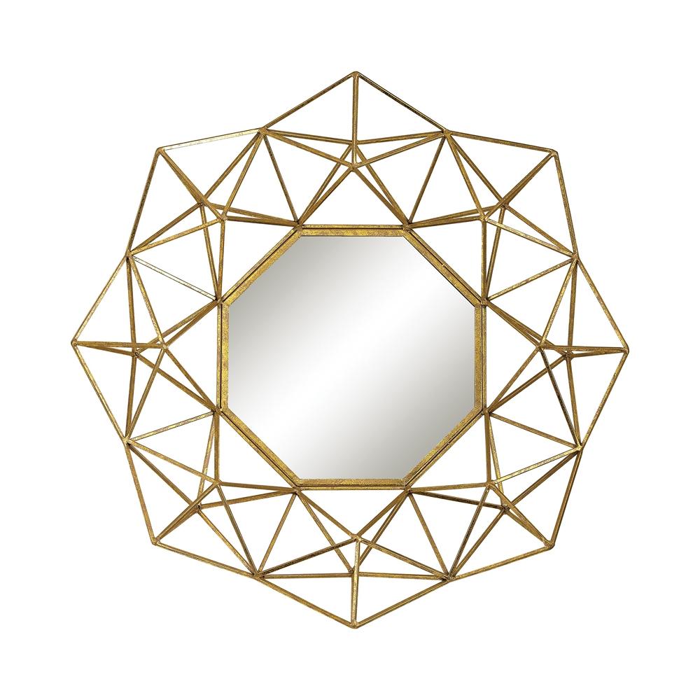 Geometric Wire Mirror. Picture 1