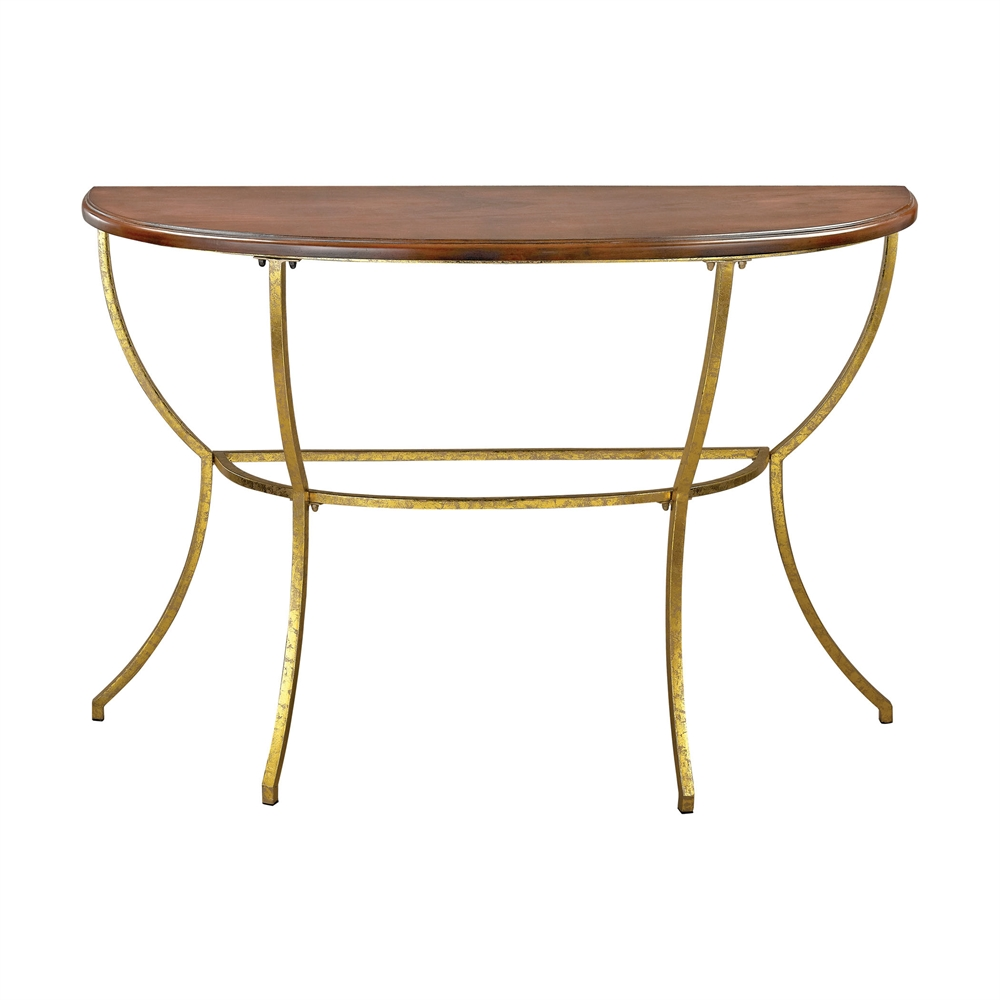 Balart Walnut and Gold Console. Picture 1