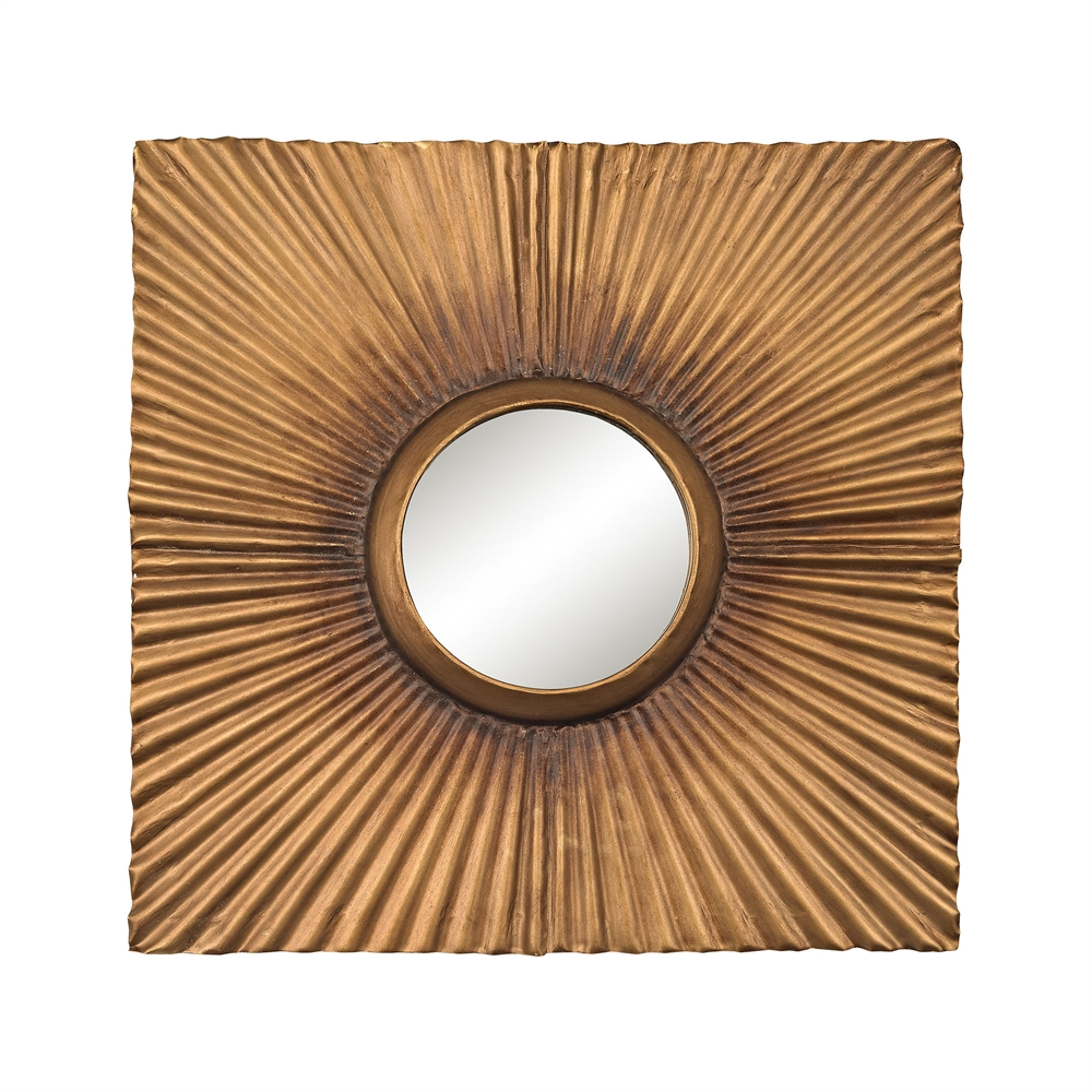 Terraced Gold Panel Mirror. Picture 1