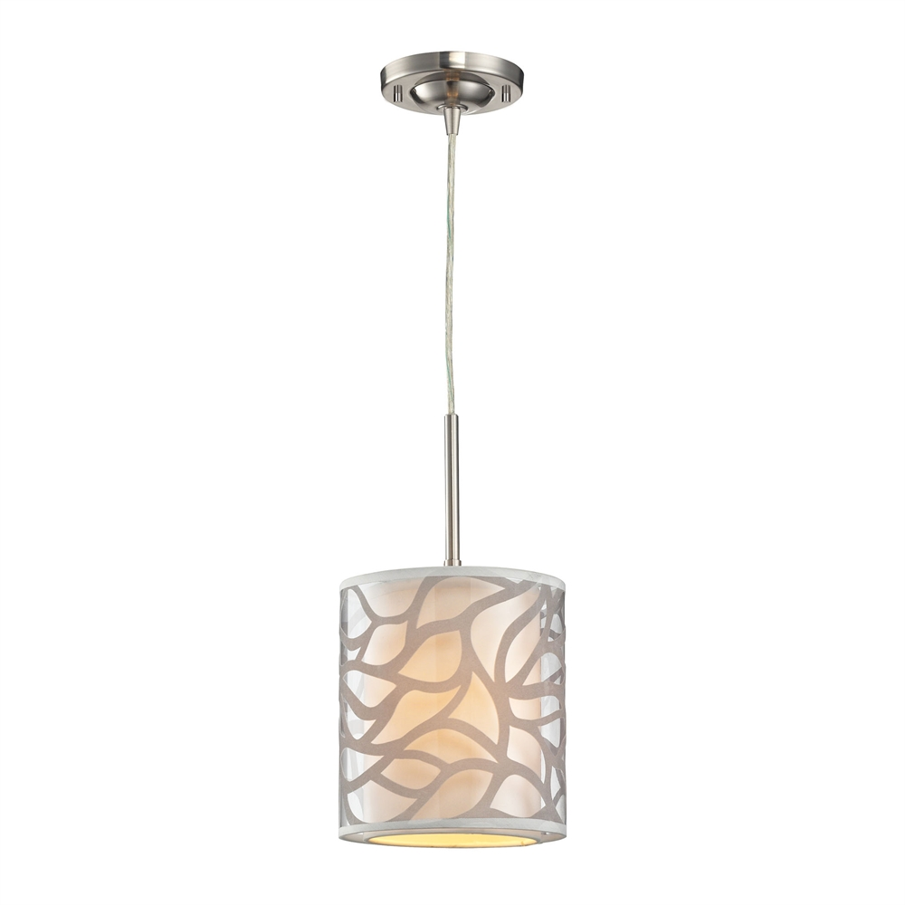 Autumn Breeze 1 Light Pendant In Brushed Nickel. The main picture.