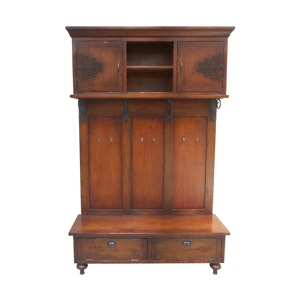 Scrolled Iron Hall Cabinet. Picture 1
