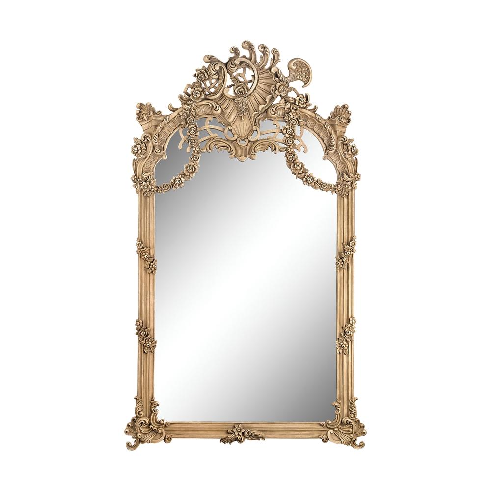 Renaissance Scroll Mirror In Russian Oak. Picture 1