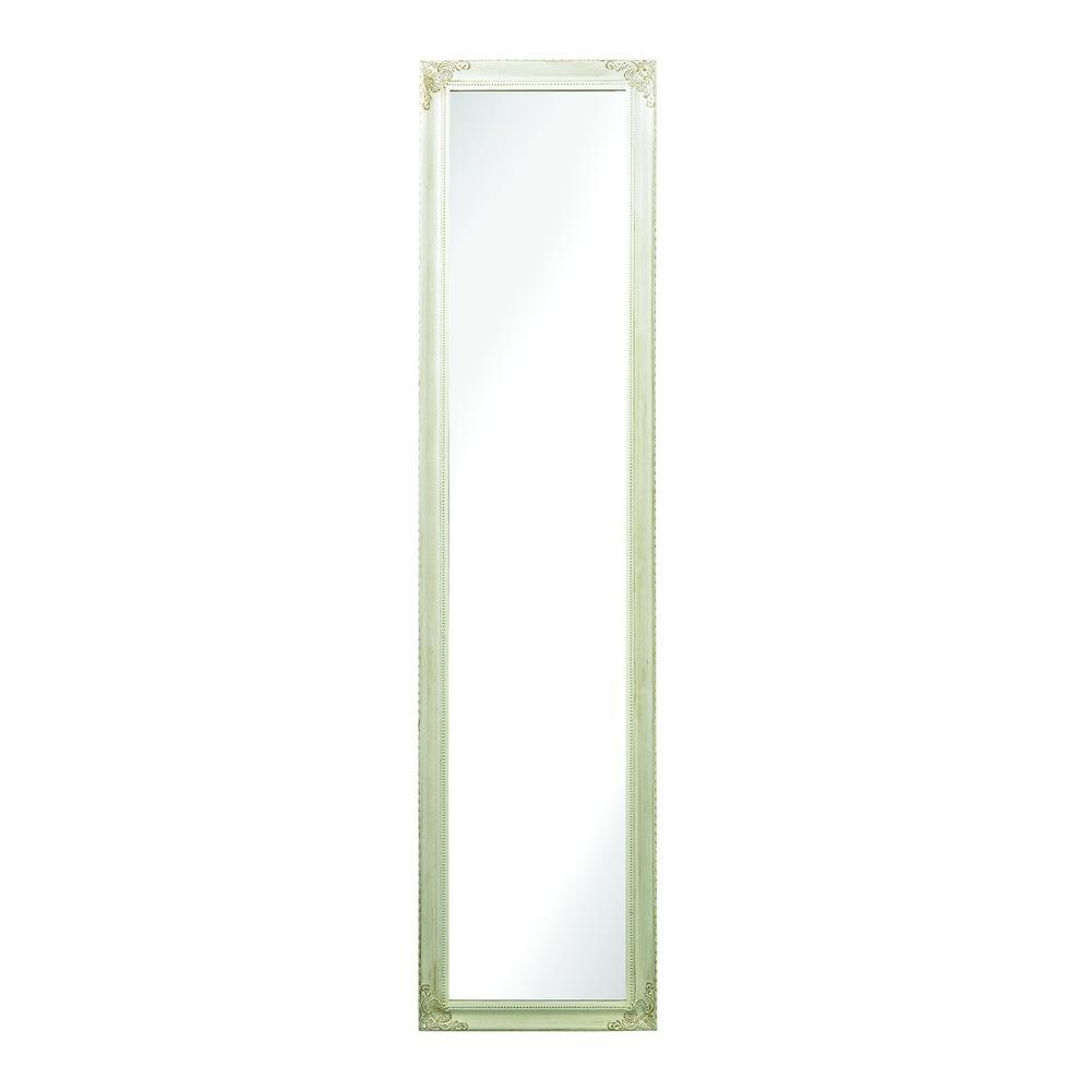 Masalia Floor Mirror In Antique White. Picture 1