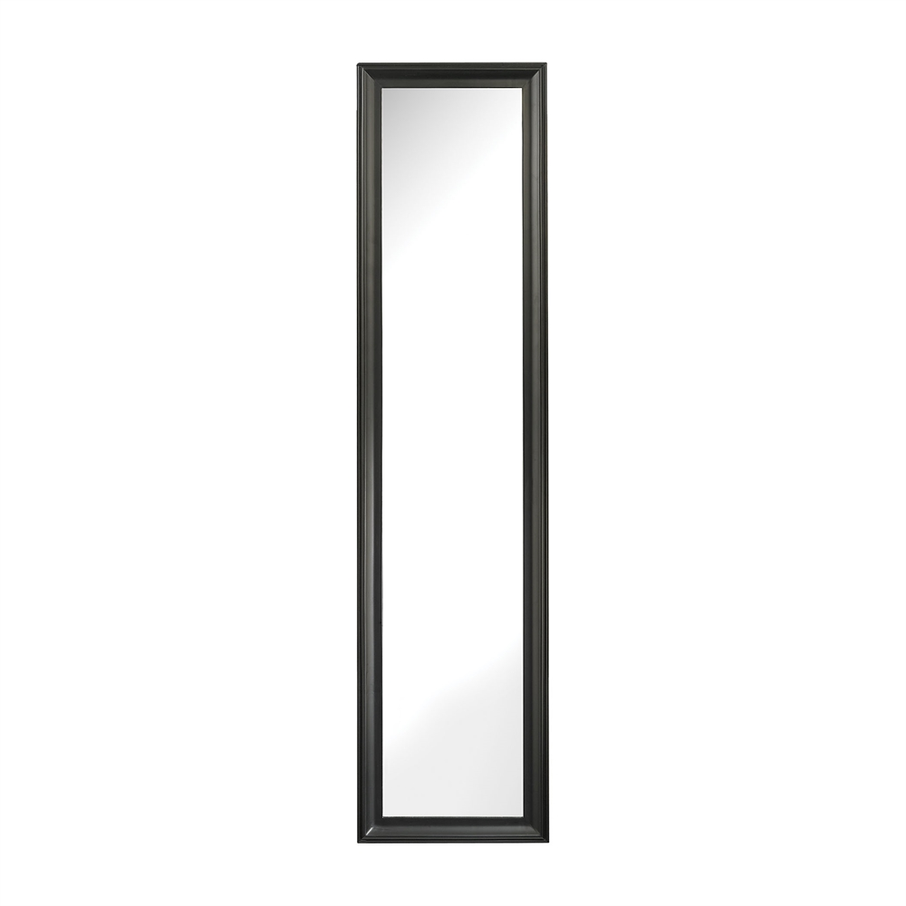 Aged Black Dressing Mirror. Picture 1