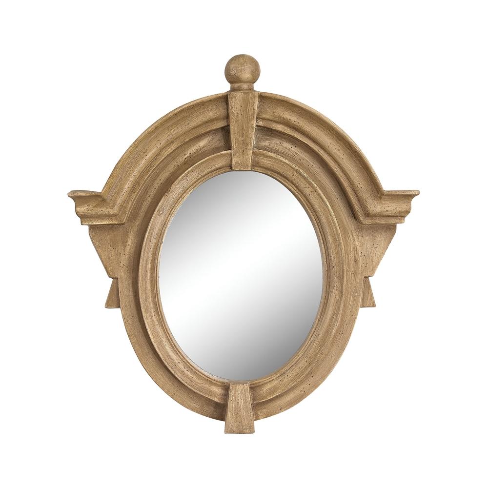 Parisian Dormer Mirror In Russian Oak. Picture 1