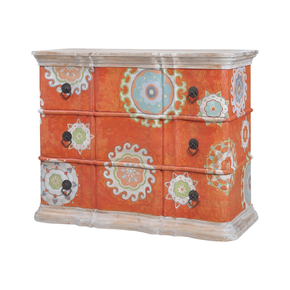 Harmony Chest In Mottled Tangerine. Picture 1