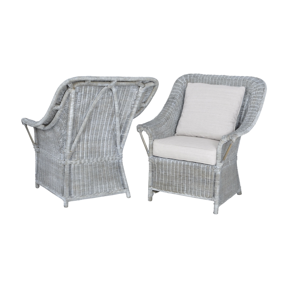 Retreat Chairs In Waterfront Grey Stain And White Wash - Set of 2. Picture 1