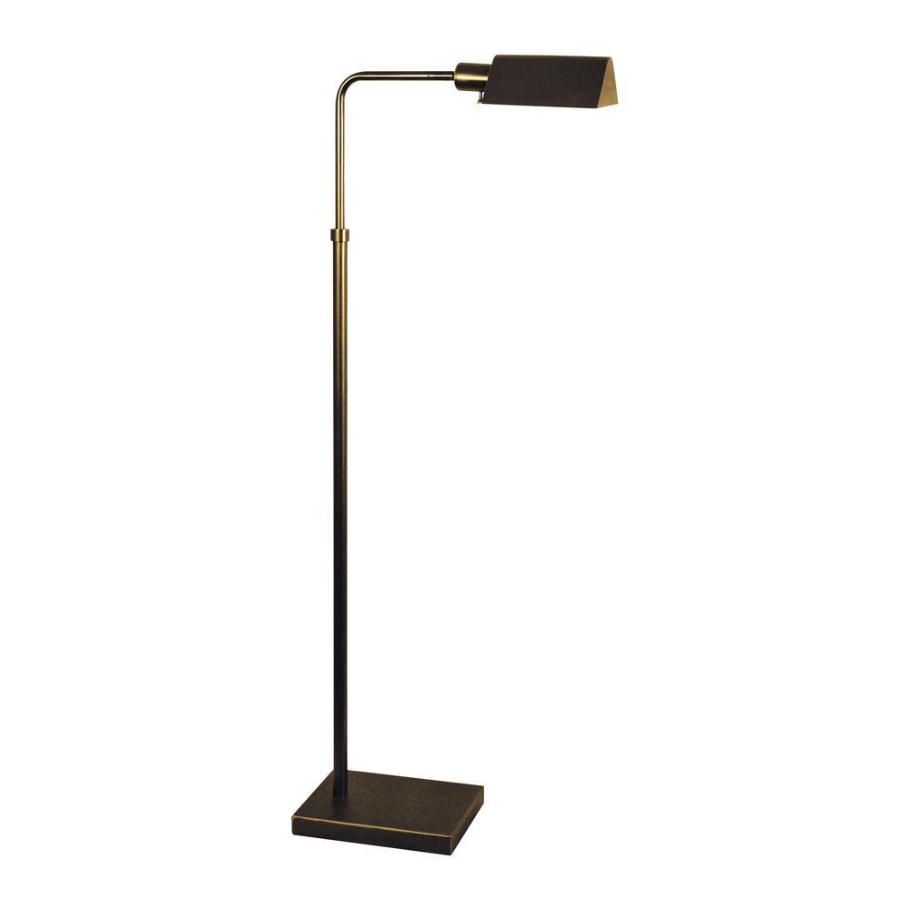 Pharmacy Floor Lamp In Bronze. Picture 1