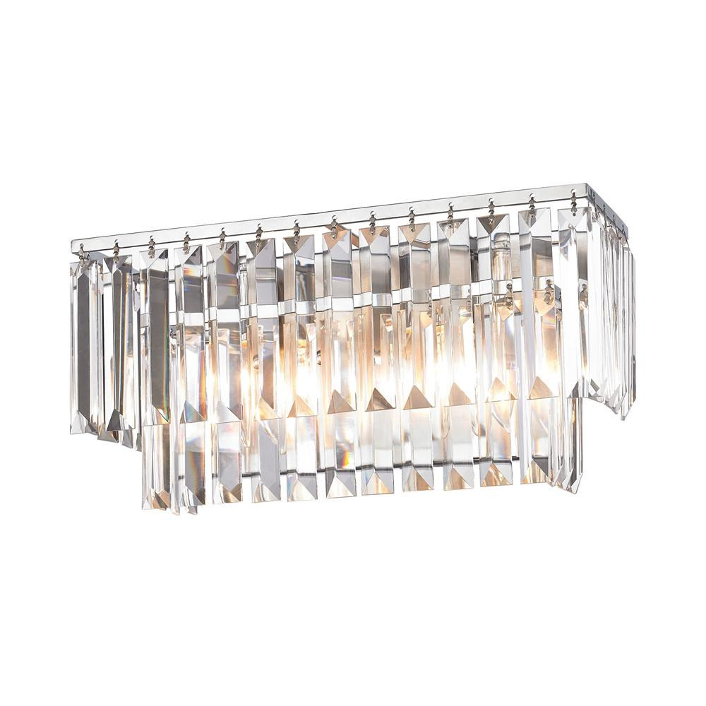 Palacial 2 Light Vanity In Polished Chrome. Picture 1