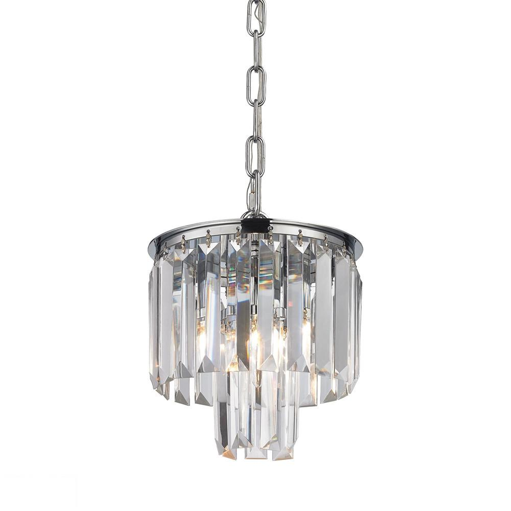 Palacial 1 Light LED Pendant In Polished Chrome. Picture 1