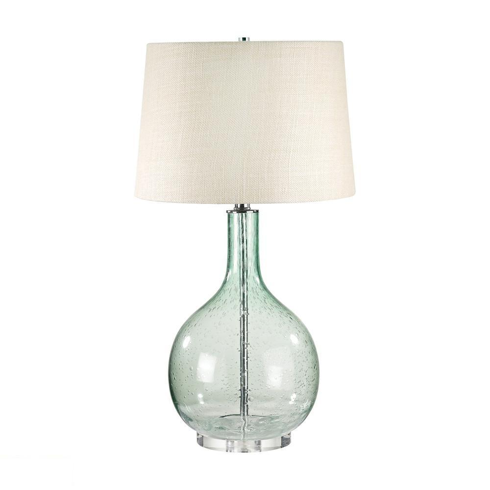 Green Seed Glass LED Table Lamp. Picture 1