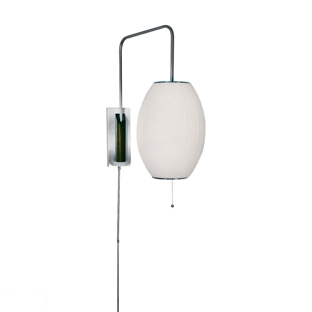 Cigar LED Swingarm Wall Sconce In White. Picture 1